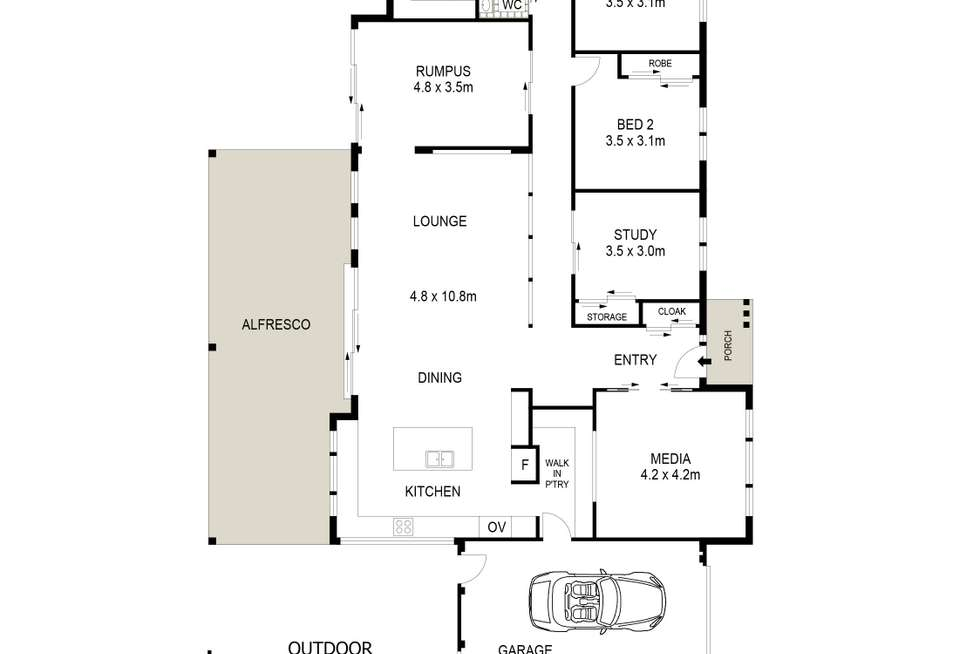 Floorplan of Homely house listing, 4 Butler Circle, Mudgee NSW 2850