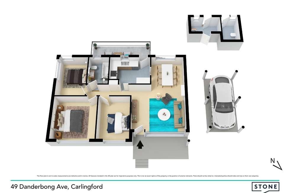 Floorplan of Homely house listing, 49 Dandarbong Avenue, Carlingford NSW 2118