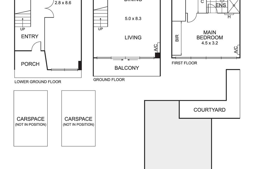 Floorplan of Homely townhouse listing, 2 Barkly Street, Brunswick East VIC 3057