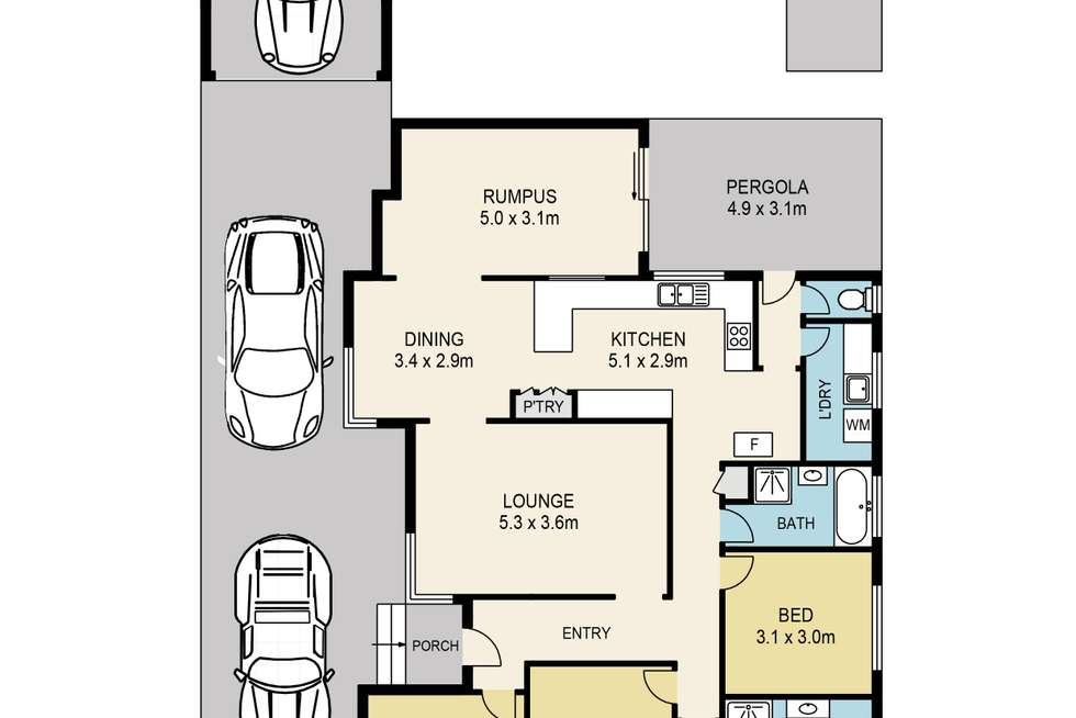 Floorplan of Homely house listing, 14 Chelmsford Crescent, St Albans VIC 3021