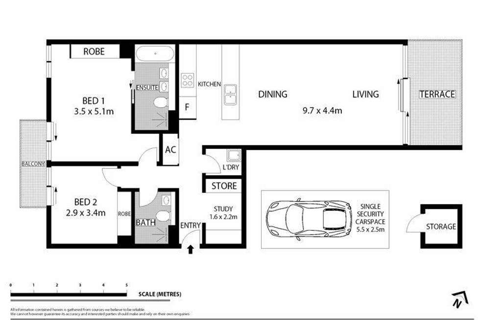 Floorplan of Homely apartment listing, 7/10 Nola Road, Roseville NSW 2069