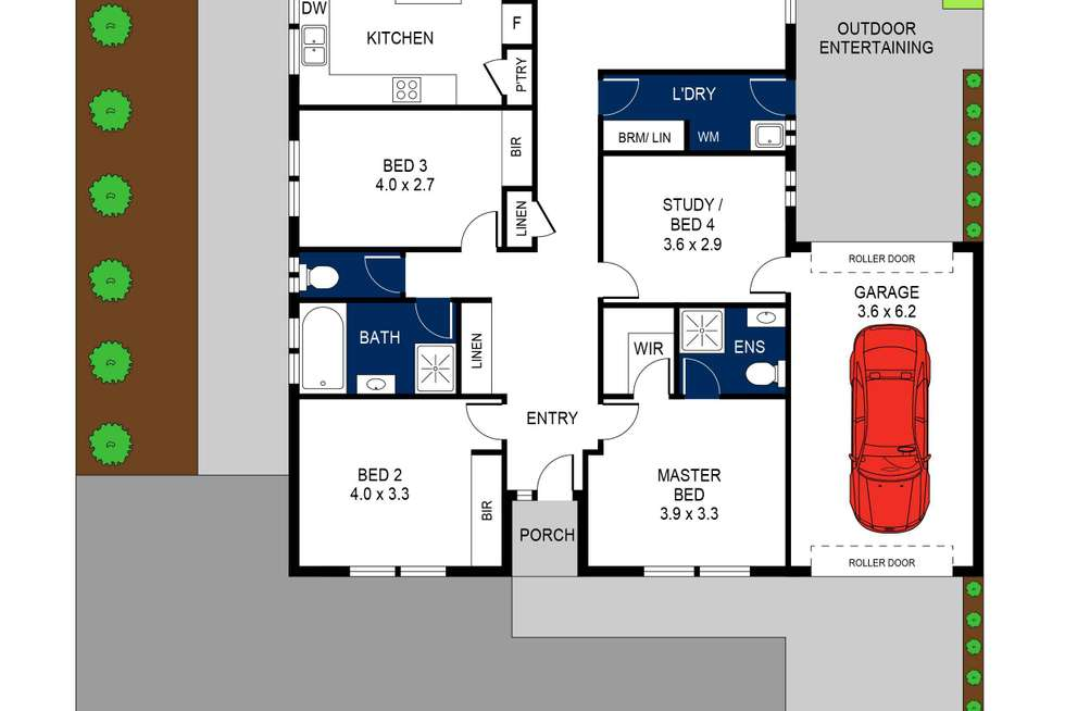 Floorplan of Homely house listing, 47 Daly Boulevard, Highton VIC 3216