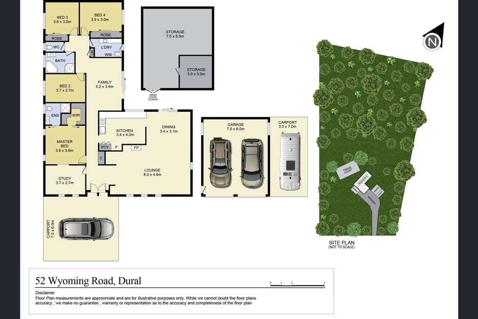 Floorplan of Homely house listing, 52 Wyoming Road, Dural NSW 2158