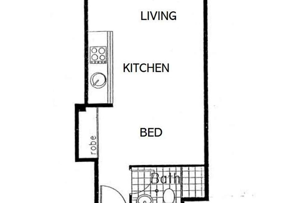 Floorplan of Homely studio listing, 26/1 Dwyer Street, Chippendale NSW 2008