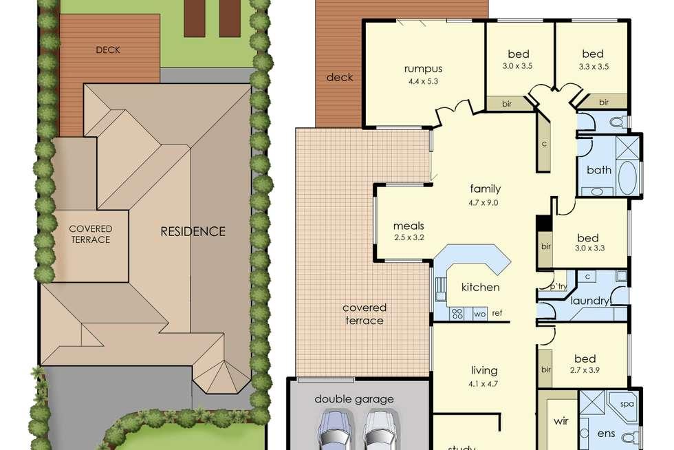Floorplan of Homely house listing, 39 Manorwoods Drive, Frankston VIC 3199