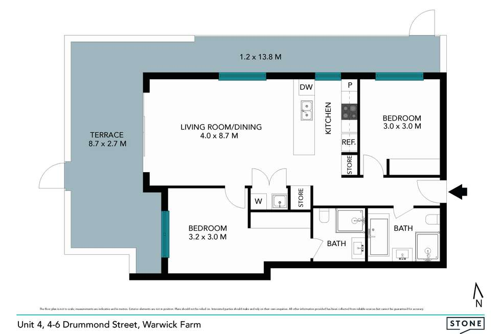 Floorplan of Homely apartment listing, 4-6 Drummond Street, Warwick Farm NSW 2170