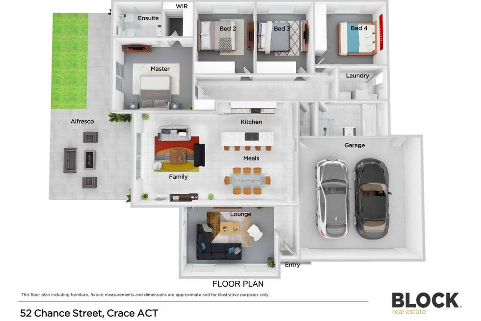 Floorplan of Homely house listing, 52 Chance Street, Crace ACT 2911