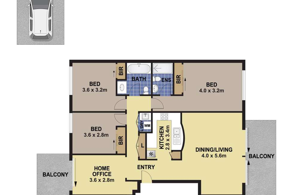 Floorplan of Homely apartment listing, 78/9 Marion Street, Auburn NSW 2144