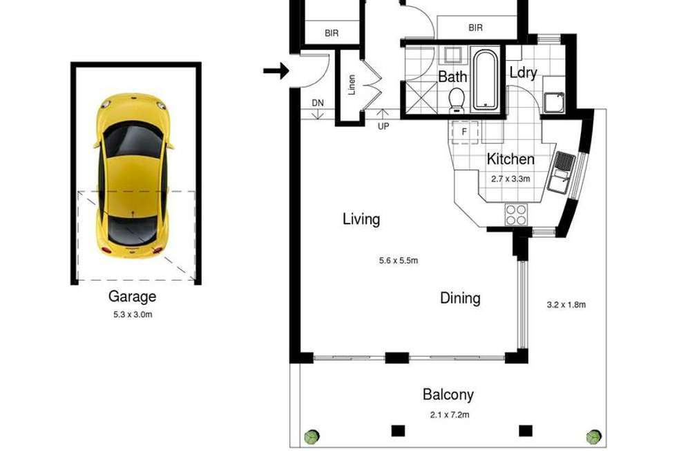 Floorplan of Homely apartment listing, 2/1-5 Searl Road, Cronulla NSW 2230