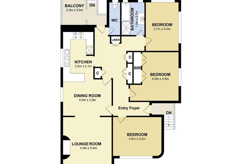 Floorplan of Homely apartment listing, 2/3 Wanganella Street, Balgowlah Heights NSW 2093