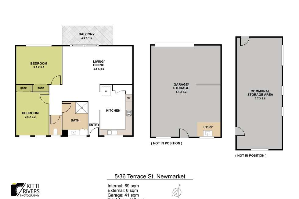 Floorplan of Homely apartment listing, 5/36 Terrace Street, Newmarket QLD 4051