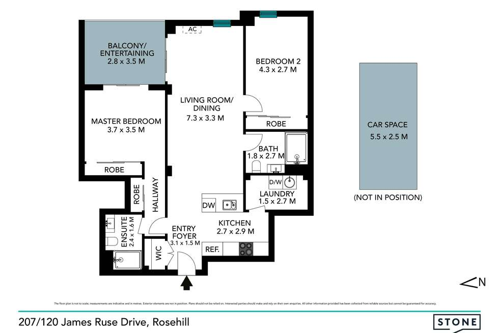 Floorplan of Homely unit listing, 207/120 James Ruse Drive, Rosehill NSW 2142