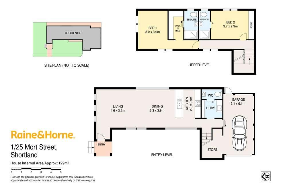 Floorplan of Homely unit listing, 1/25 Mort Street, Shortland NSW 2307