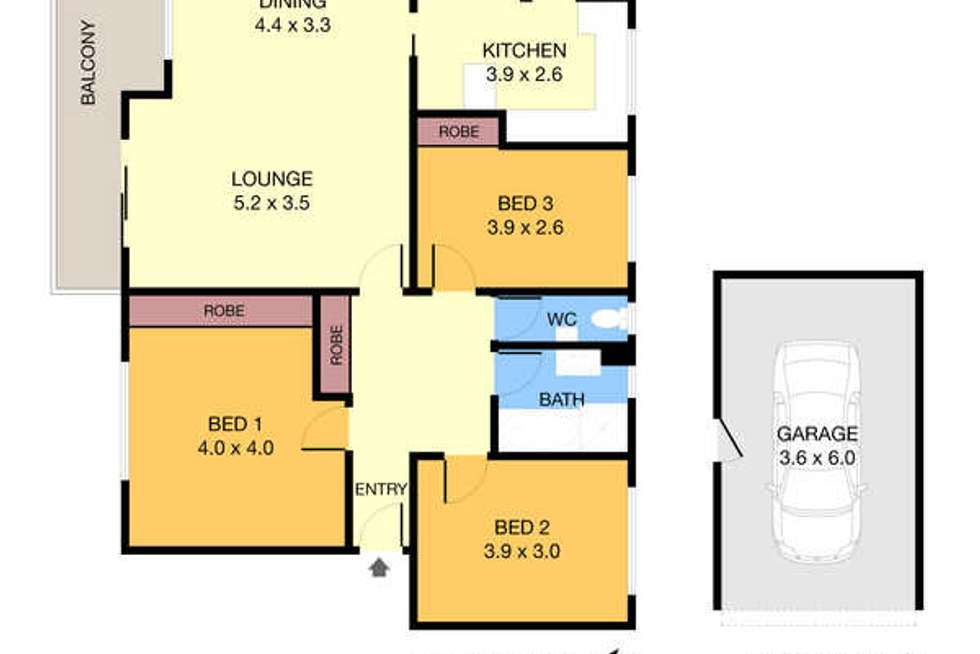 Floorplan of Homely apartment listing, 3/14 Essex Street, Epping NSW 2121