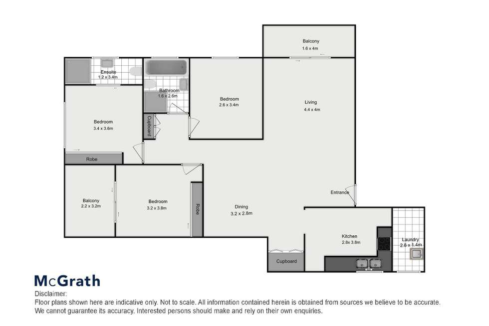 Floorplan of Homely apartment listing, 11/32 Chapel Street, Rockdale NSW 2216