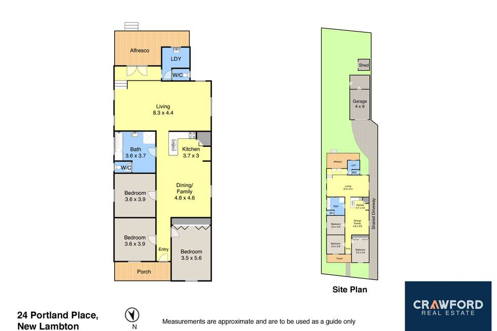 Floorplan of Homely house listing, 24 Portland Place, New Lambton NSW 2305