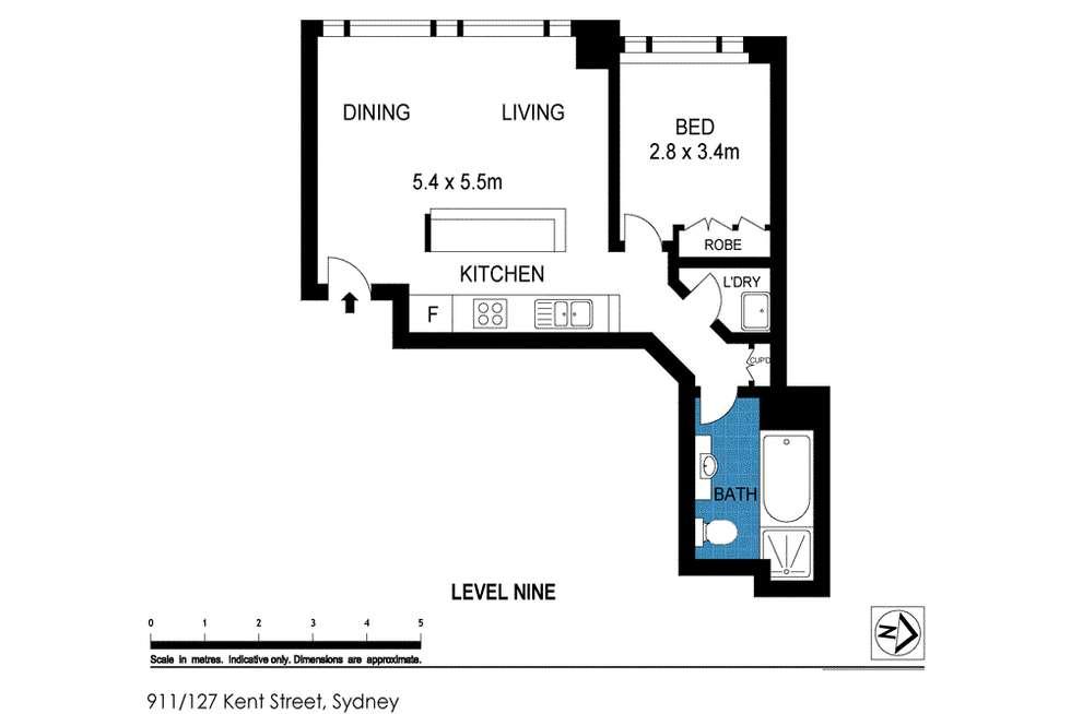 Floorplan of Homely apartment listing, 127 Kent Street, Sydney NSW 2000