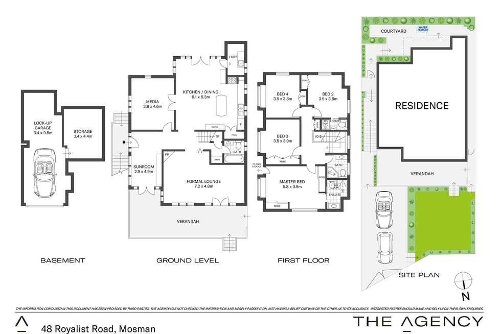 Floorplan of Homely house listing, 48 Royalist Road, Mosman NSW 2088