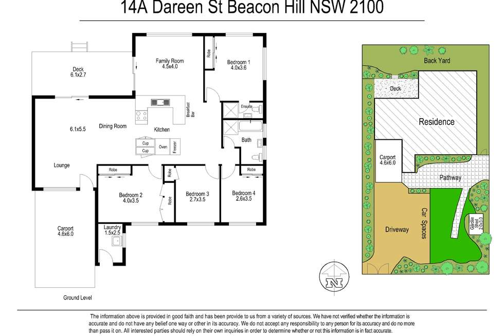 Floorplan of Homely house listing, 14A Dareen Street, Beacon Hill NSW 2100