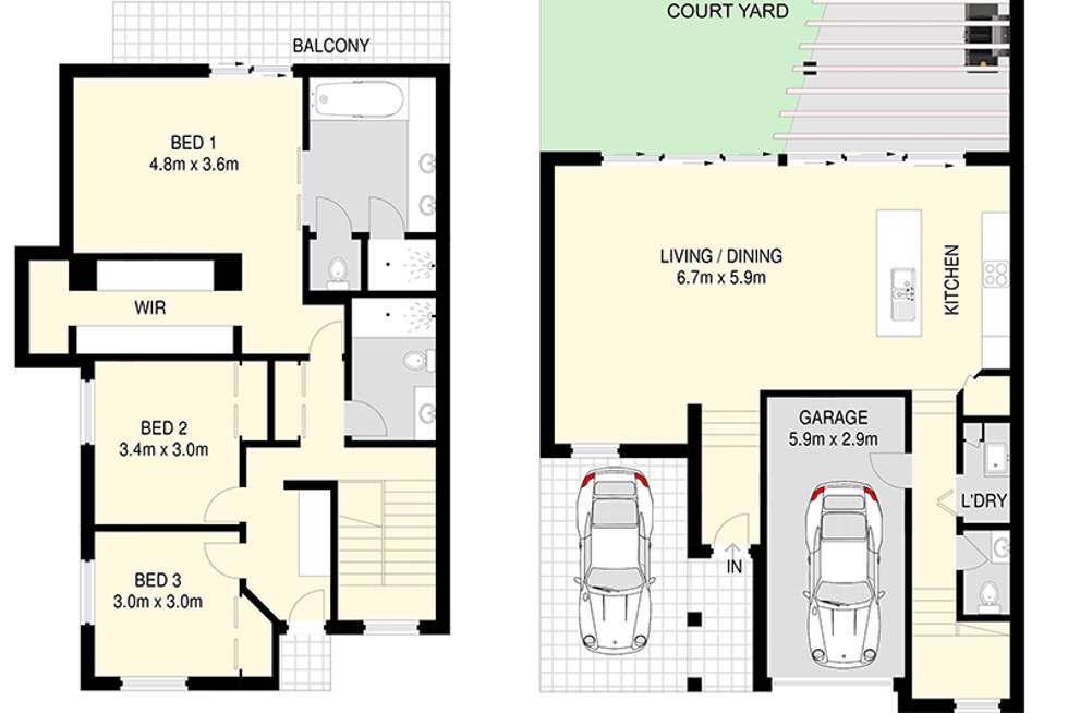 Floorplan of Homely house listing, 1/23 Albert Street, Woolloongabba QLD 4102