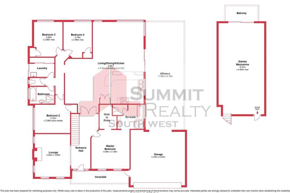 Floorplan of Homely house listing, 39 Marlston Drive, Bunbury WA 6230