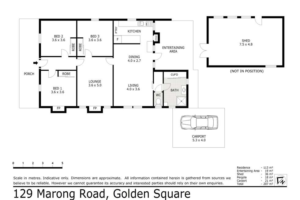 Floorplan of Homely house listing, 129 Marong Road, Golden Square VIC 3555