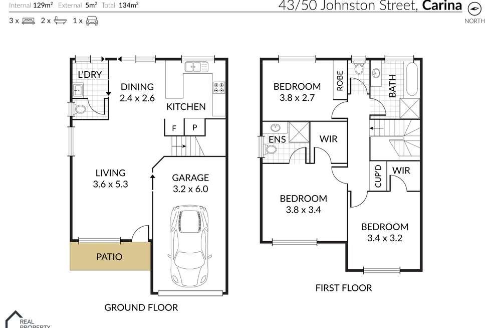 Floorplan of Homely townhouse listing, 43/50 Johnston Street, Carina QLD 4152
