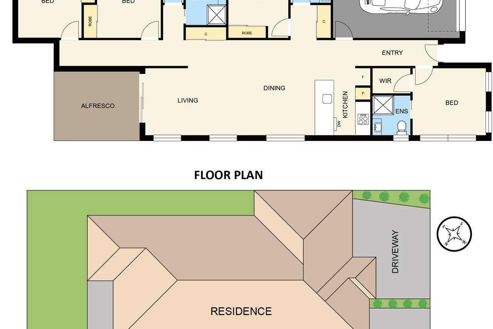 Floorplan of Homely house listing, 5 Pashanger Court, Pakenham VIC 3810