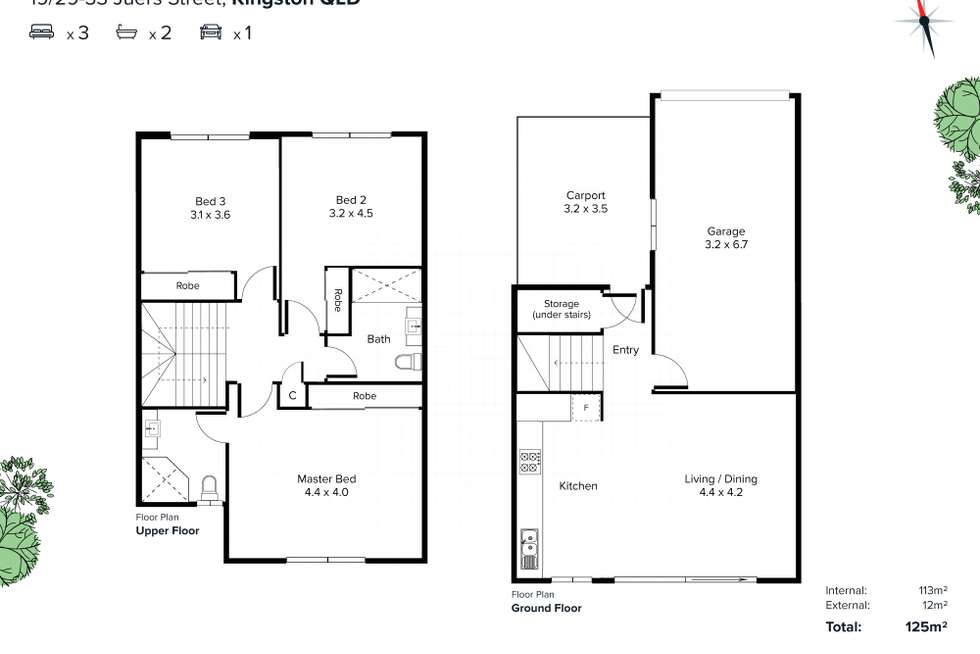 Floorplan of Homely townhouse listing, 19/29-33 Juers Street, Kingston QLD 4114