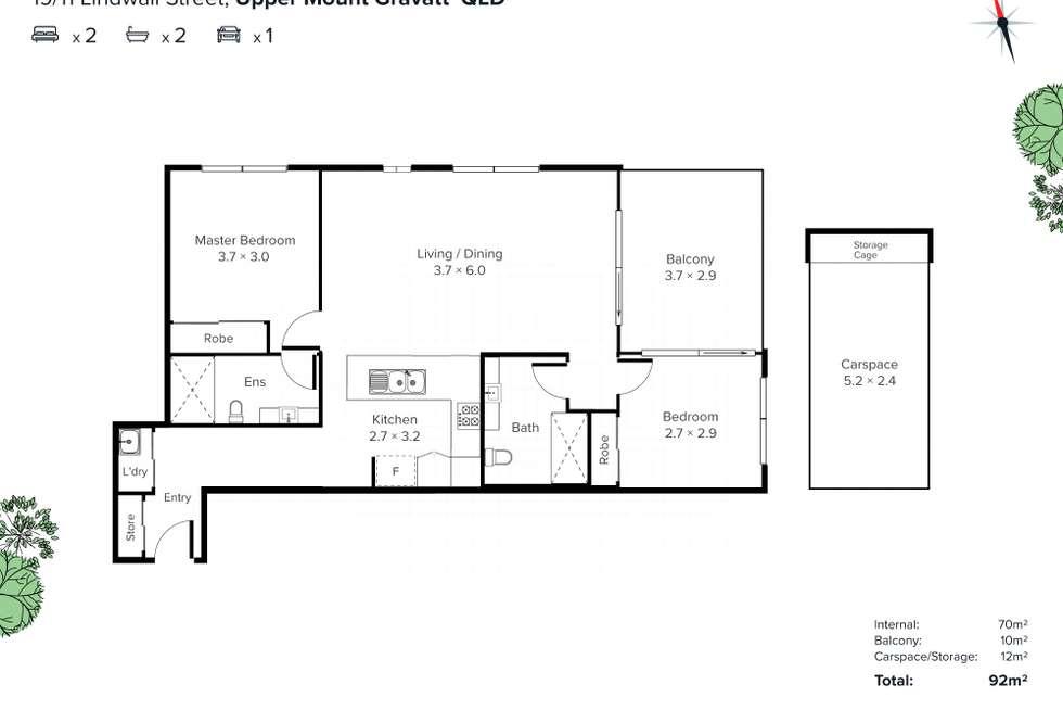 Floorplan of Homely apartment listing, 19/11 Lindwall Street, Upper Mount Gravatt QLD 4122