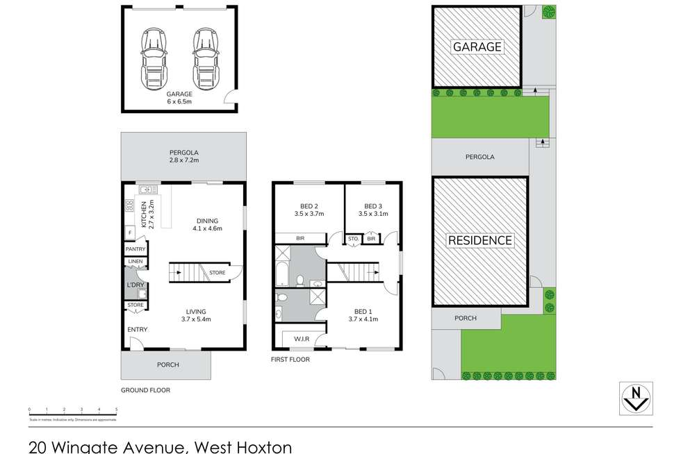 Floorplan of Homely house listing, 20 Wingate Avenue, West Hoxton NSW 2171