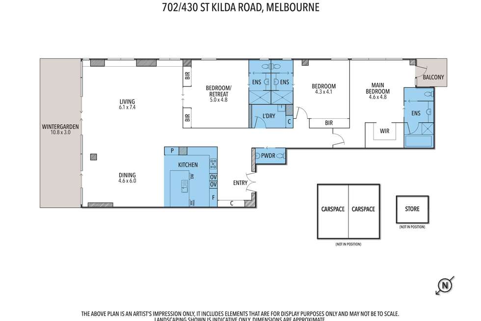 Floorplan of Homely apartment listing, 702/430 St Kilda Road, Melbourne VIC 3000