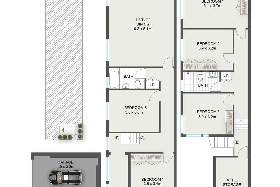 Floorplan of Homely house listing, 13 Alfred Street, Bronte NSW 2024