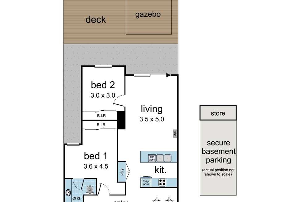 Floorplan of Homely apartment listing, 8/2 Churchill Street, Ringwood VIC 3134