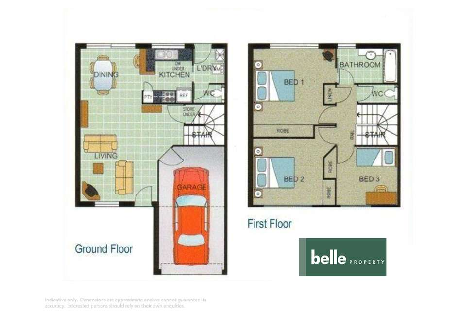 Floorplan of Homely townhouse listing, 827/2 Nicol Way, Brendale QLD 4500