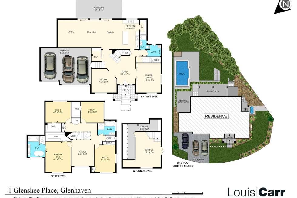 Floorplan of Homely house listing, 1 Glenshee Place, Glenhaven NSW 2156