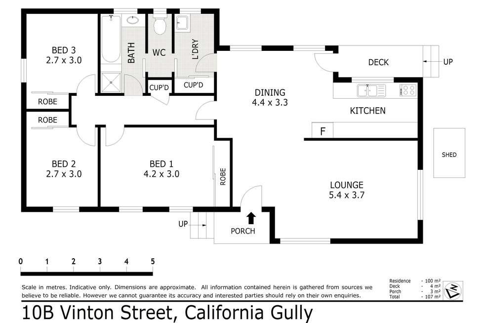 Floorplan of Homely house listing, 10B Vinton Street, California Gully VIC 3556