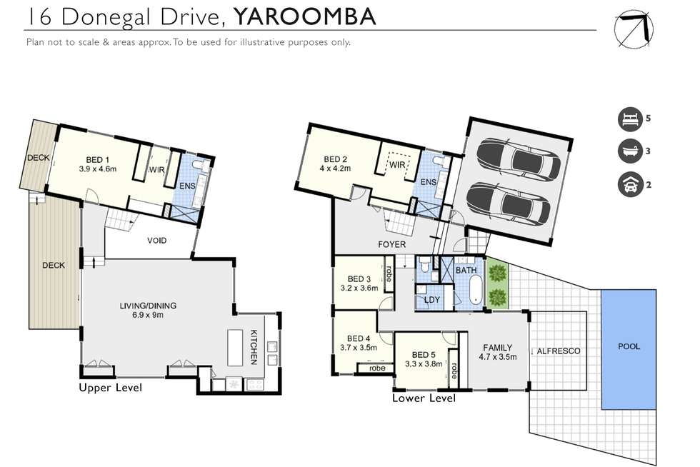 Floorplan of Homely house listing, 16 Donegal Drive, Yaroomba QLD 4573