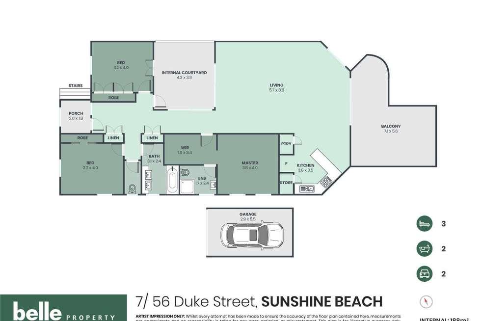 Floorplan of Homely apartment listing, 7/56 Duke Street, Sunshine Beach QLD 4567