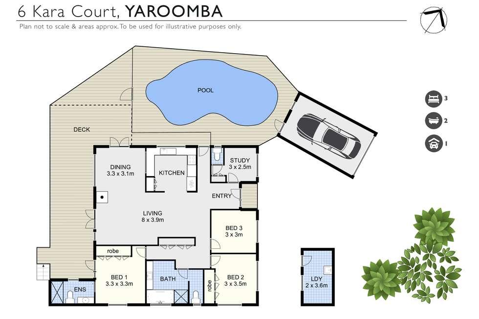 Floorplan of Homely house listing, 6 Kara Court, Yaroomba QLD 4573