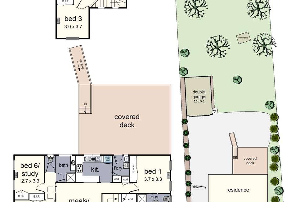 Floorplan of Homely house listing, 12 Tarranna Grove, Chum Creek VIC 3777