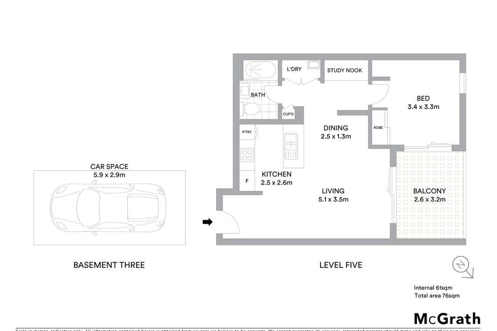 Floorplan of Homely apartment listing, 5032/78A Belmore Street, Ryde NSW 2112