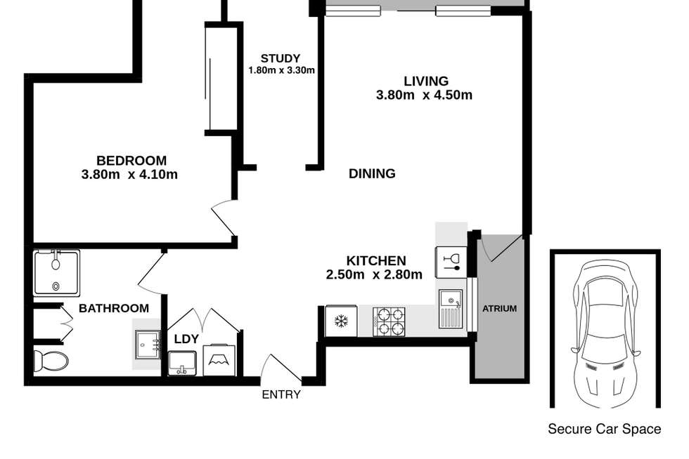 Floorplan of Homely apartment listing, 109/16 Warburton Street, Gymea NSW 2227