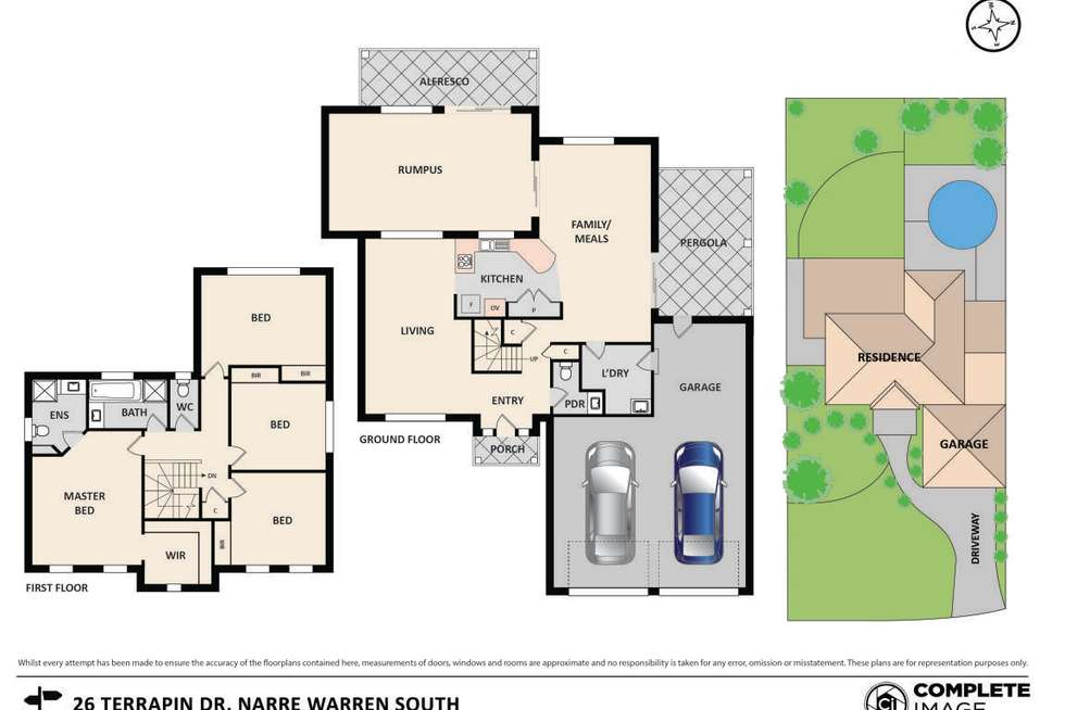 Floorplan of Homely house listing, 26 Terrapin Drive, Narre Warren South VIC 3805