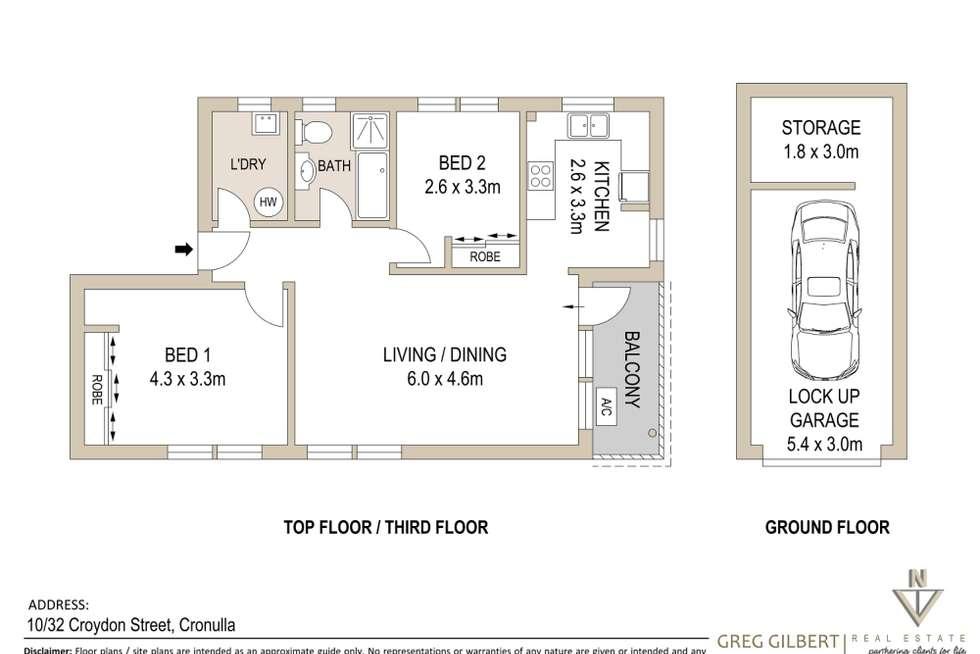 Floorplan of Homely apartment listing, 10/32 Croydon Street, Cronulla NSW 2230
