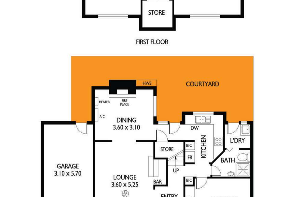 Floorplan of Homely house listing, 2/9 Mathias Avenue, Cumberland Park SA 5041
