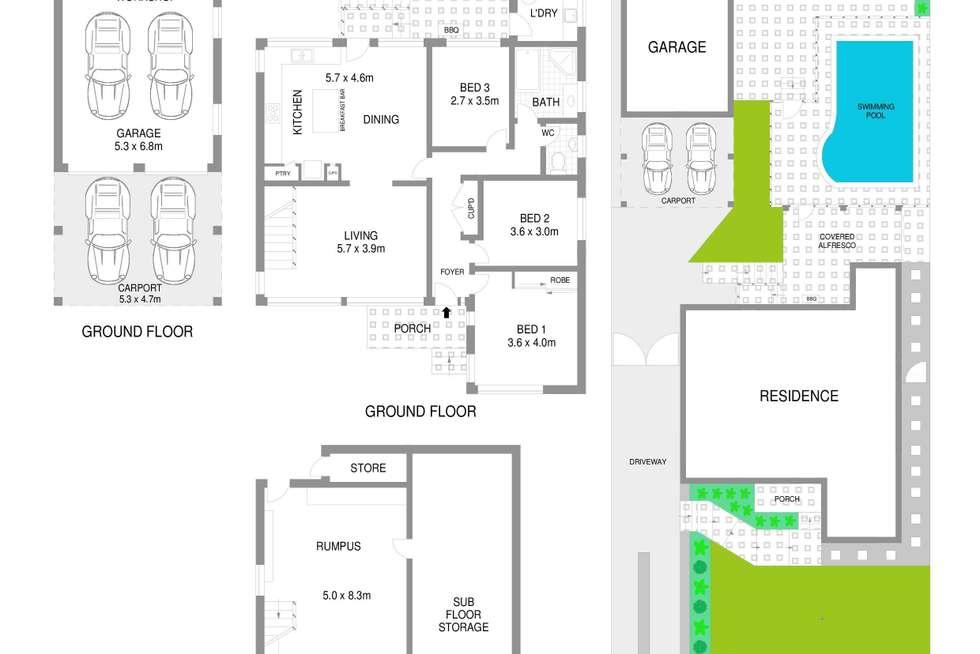 Floorplan of Homely house listing, 18 Sierra Road, Engadine NSW 2233