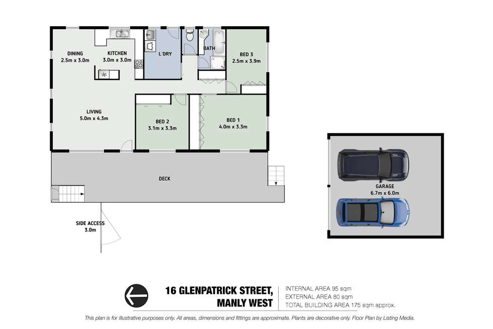 Floorplan of Homely house listing, 16 Glenpatrick Street, Manly West QLD 4179