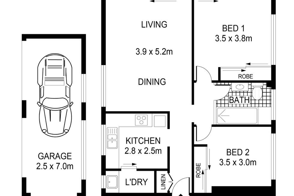 Floorplan of Homely apartment listing, 7/22 Liverpool Street, Rose Bay NSW 2029