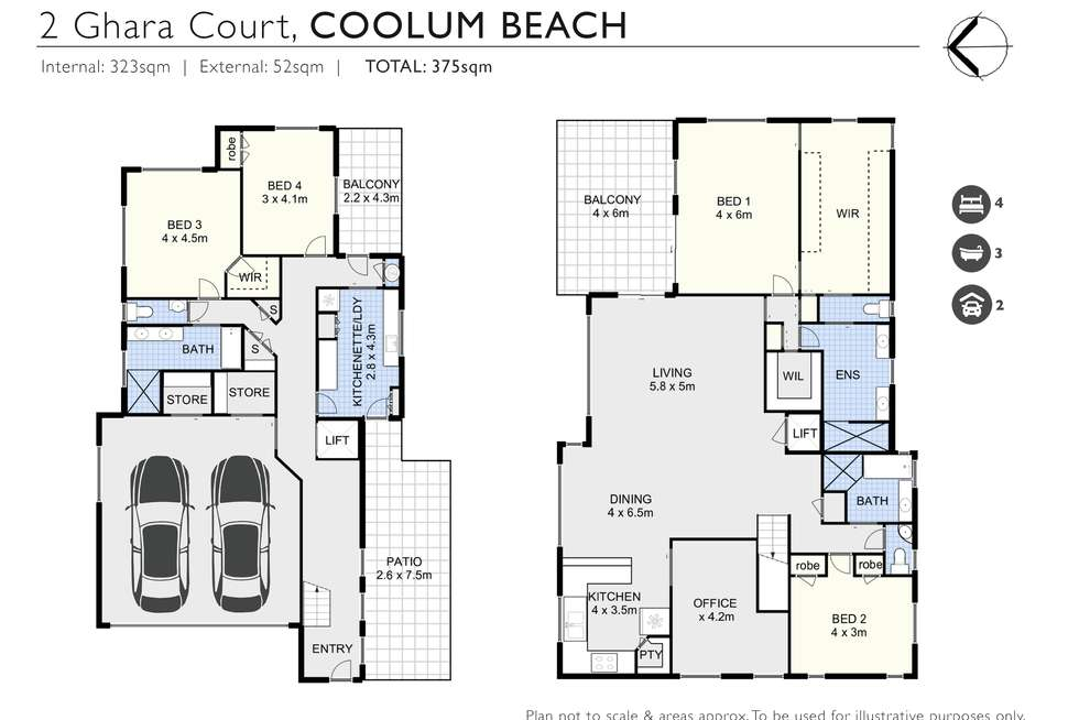 Floorplan of Homely house listing, 2 Ghara Court, Coolum Beach QLD 4573